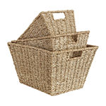 Baum Set Of 3-pc.Natural Basket