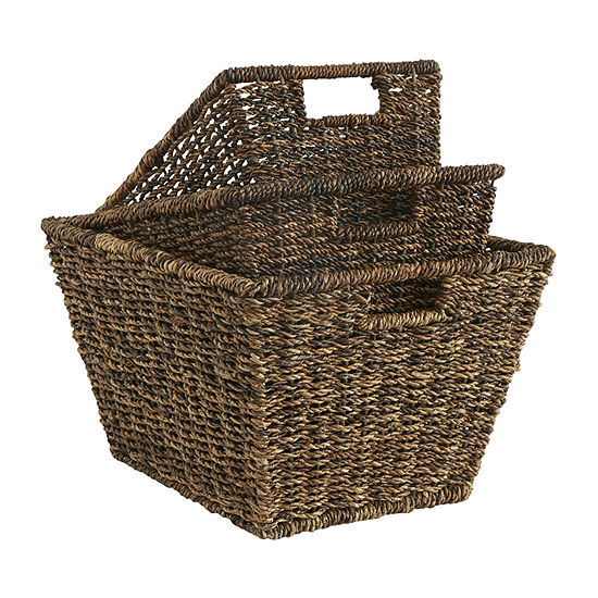 Baum Set Of 3-pc.Brown Basket