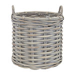 Baum Set Of 2-pc.Gray Round Rattan Basket