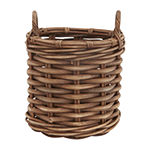 Baum Brown Round Rattan Basket