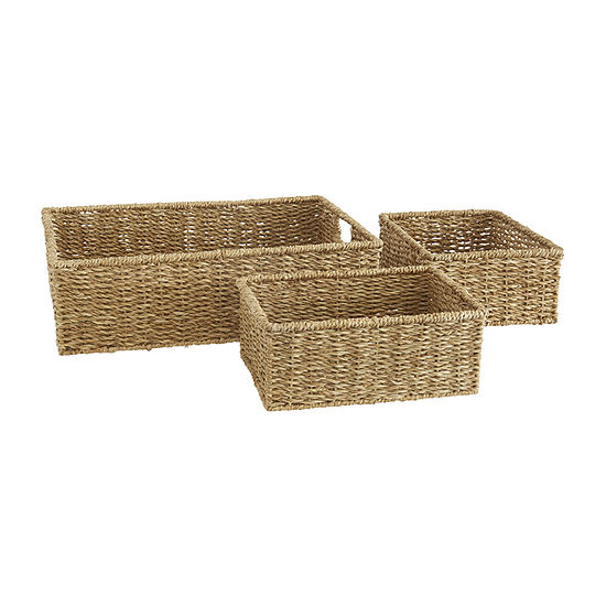 Baum Set Of 3-pc.Natural Storage Basket