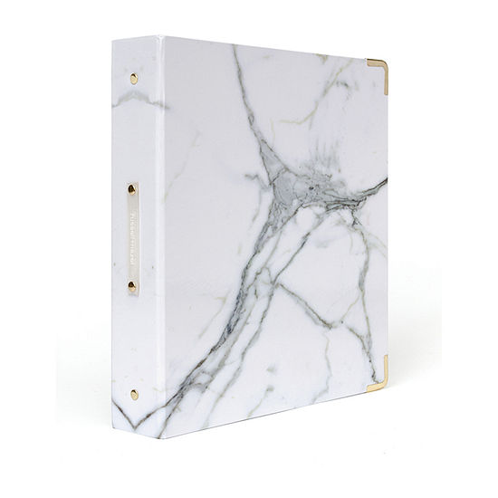 Russell + Hazel Signature Full Wrap Marble Binder
