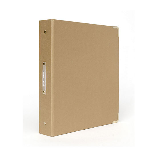 Russell + Hazel Medallion Bookcloth Signature 3 Ring Binder