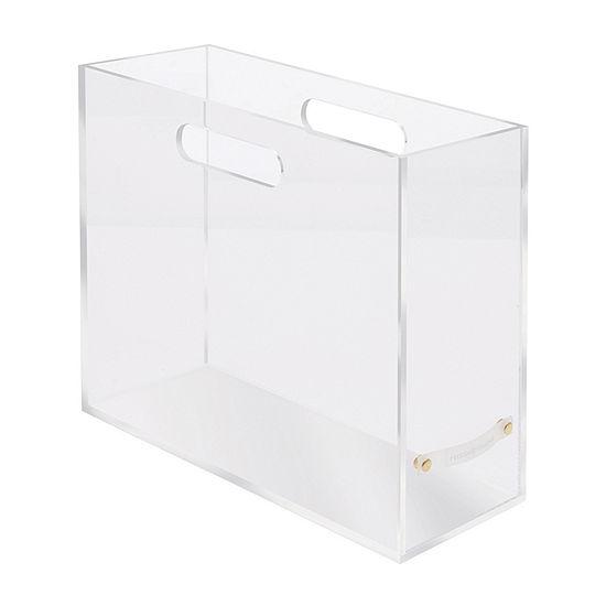 Russell + Hazel Acrylic File Box Slim Desktop Organizer
