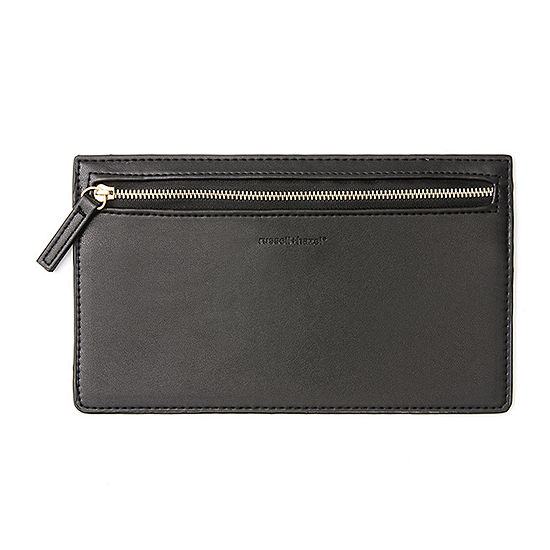 Russell + Hazel Black Vegan Leather Pencil Case