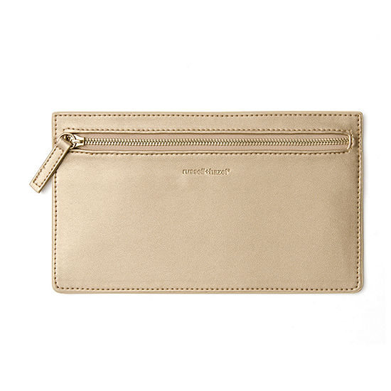 Russell + Hazel Gold Vegan Leather Pencil Case