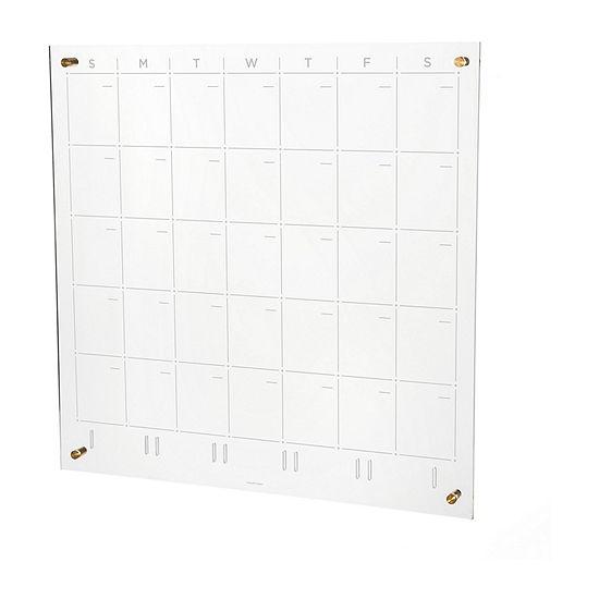 Russell + Hazel Acrylic Monthly 24x24 Wall Calendar