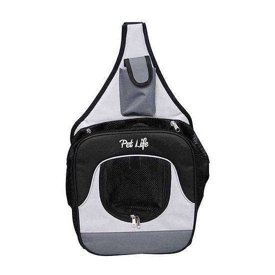 The Pet Life Single Strap Over-The-Shoulder Navigation Hands Free Backpack and Front pack Pet Carrier