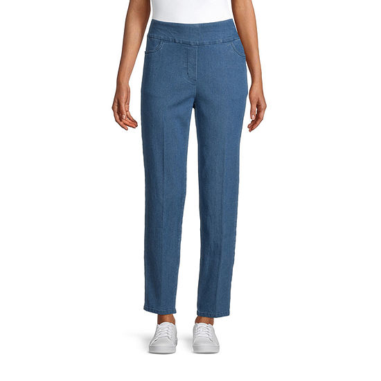 Alfred Dunner Panama City Womens Straight Pull-On Pants