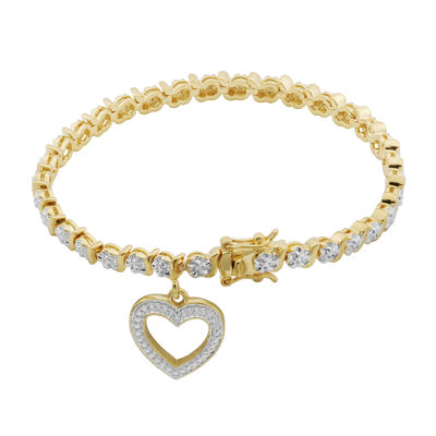 Classic Treasures™ Diamond-Accent Heart Charm Bracelet