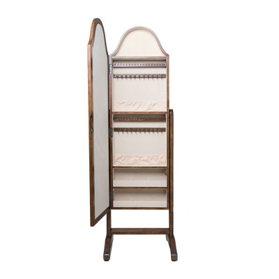 Hives and Honey Bell-Shaped Standing Jewelry Mirror Armoire