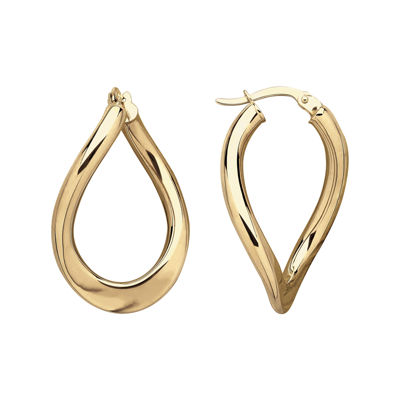 Infinite Gold™ 14K Yellow Gold Curved Hoop Earrings