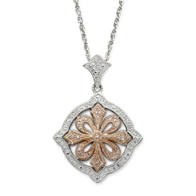 Vintage Inspirations™ 1/5 CT. T.W. Diamond Pendant Necklace