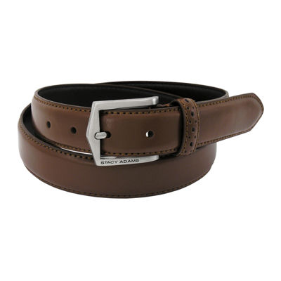 Stacy Adams® Leather Belt with Pinhole Design–Big & Tall