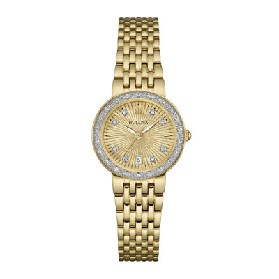 Bulova® Diamonds Maiden Lane Womens Diamond-Accent Bracelet Watch 98R212