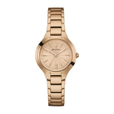Bulova® Classic Womens Rose-Tone Stainless Steel Bracelet Watch 97L151