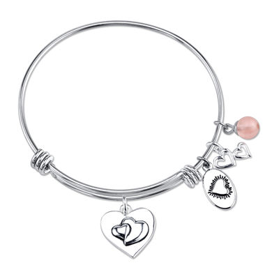 Footnotes Too® Stainless Steel Sisters Expandable Bangle Bracelet