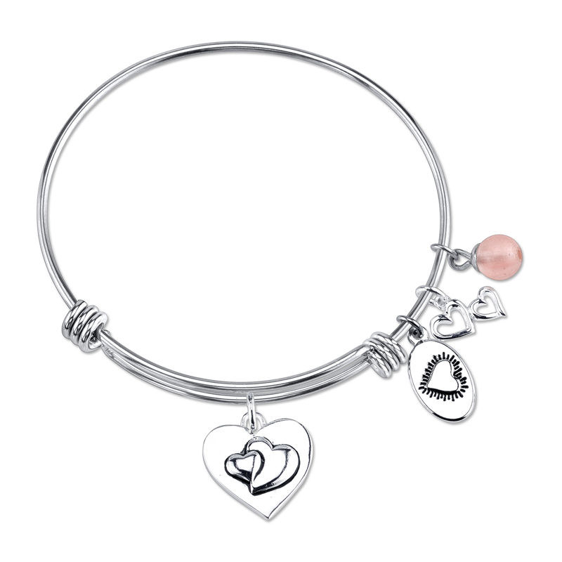 Footnotes Footnotes Silver-Plated Stainless Steel Mom Charm Bracelet