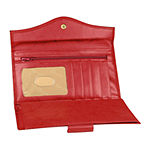 Buxton Heiress Leather Organizer Clutch Wallet