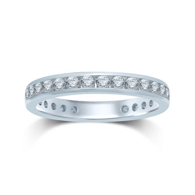1 CT. T.W. Diamond 14K White Gold Eternity Band