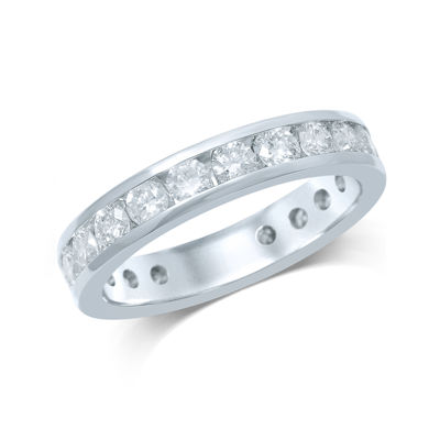 2 CT. T.W. Diamond 14K White Gold Eternity Band