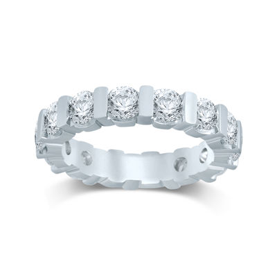 3 CT. T.W. Diamond 14K White Gold Eternity Band