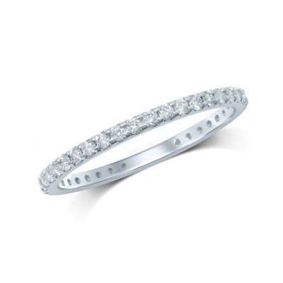 1/2 CT. T.W. Diamond 14K White Gold Eternity Band