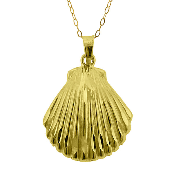 10k yellow gold seashell pendant necklace jcpenney 10k yellow gold seashell pendant necklace aloadofball Gallery