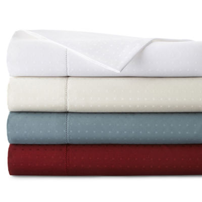 Royal Velvet® 500tc Wrinkle-Free Damask Swiss Dot Sheet Set