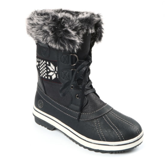 Northside Brookelle Womens Lace Up Waterproof Slip Resistant Winter Boots
