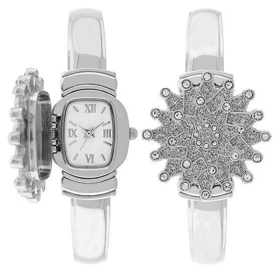 Holiday Whimsy Womens Silver Tone Bangle Watch-18112