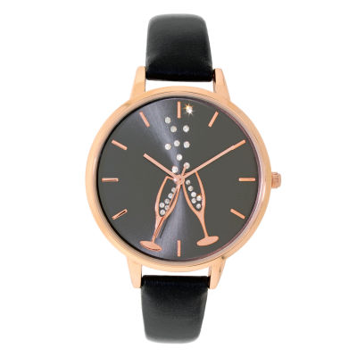 Holiday Whimsy Womens Black Strap Watch-18116