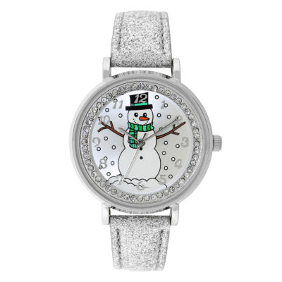 Holiday Whimsy Womens Silver Tone Strap Watch-18117