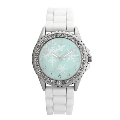 Holiday Whimsy Womens White Strap Watch-18119