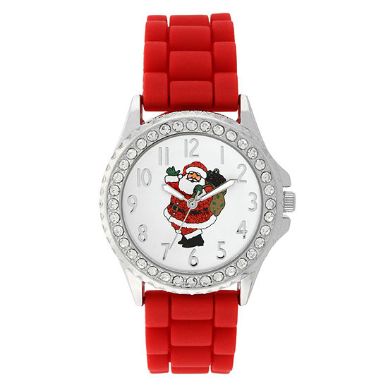 Holiday Whimsy Womens Red Strap Watch-18120