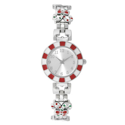 Holiday Whimsy Womens Silver Tone Bracelet Watch-18122