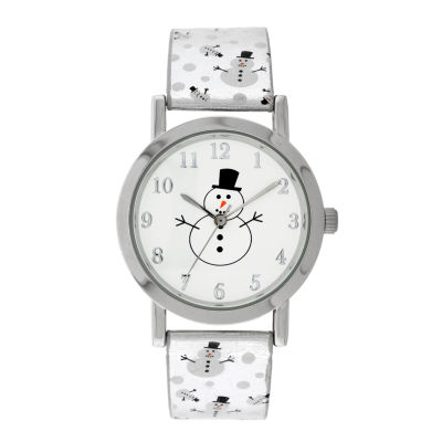 Holiday Whimsy Womens Silver Tone Strap Watch-18123