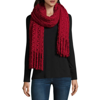 Mixit Oblong Fringe Cold Weather Scarf