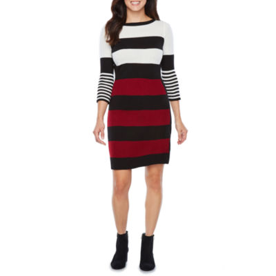 Studio 1 3/4 Sleeve Sweater Dress
