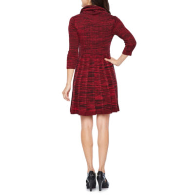 Studio 1 Long Sleeve Sweater Dress