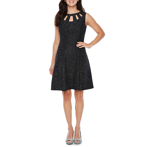 Alyx Sleeveless Sparkle Fit & Flare Dress