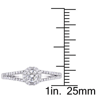 Womens 3/8 CT. T.W. Genuine White Diamond 14K Gold Engagement Ring