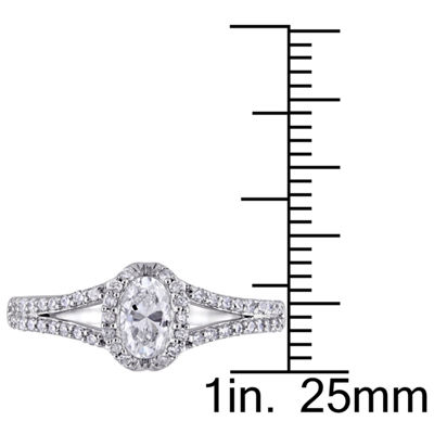 Womens 3/4 CT. T.W. Genuine White Diamond 14K Gold Engagement Ring