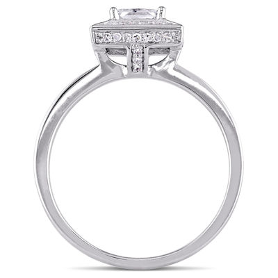 Womens 3/4 CT. T.W. Princess White Diamond 14K Gold Engagement Ring