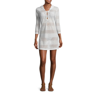Porto Cruz Pattern Jacquard Swimsuit Cover-Up Dress
