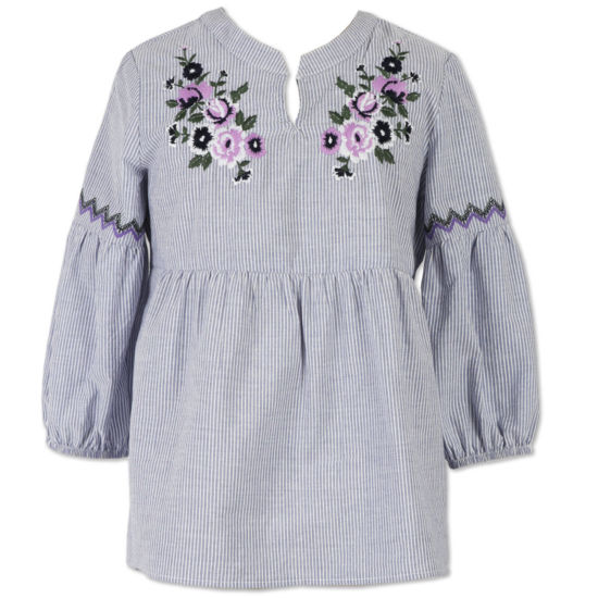 Speechless Embroidered Floral Top - Girls' 7-16