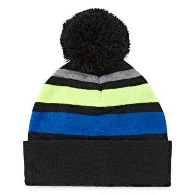 City Streets Stripe POM Beanie Hat - Boys 4-20