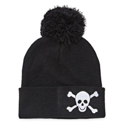 City Streets Skull POM Beanie Hat - Boys 4-20