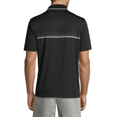 Claiborne Short Sleeve Stripe Knit Polo Shirt