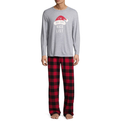 North Pole Trading Co. Checkin' It Twice Flannel Family Pajama Set- Men's